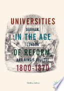 Universities in the Age of Reform, 1800–1870
