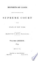 Reports of Cases Heard and Determined in the Supreme Court of the State of New York
