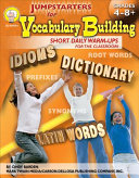 Jumpstarters for Vocabulary Building  Grades 4   8