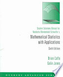 Student Solutions Manual for Wackerly/Mendenhall/Scheaffer's Mathematical Statistics with Applications, Sixth Edition