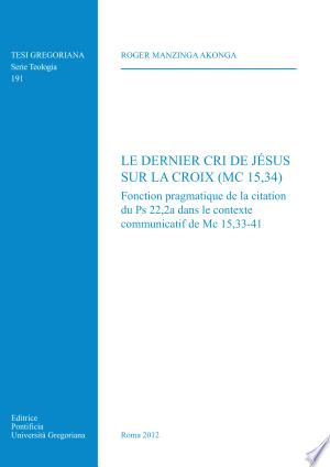 Download Le dernier cri de Jésus sur la croix Free Books - Dlebooks.net