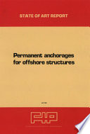Permanent anchorages for offshore structures Book