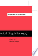 Historical Linguistics 1999