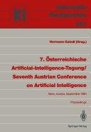 7    sterreichische Artificial Intelligence Tagung   Seventh Austrian Conference on Artificial Intelligence