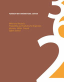 Cover of Miller and Freund's Probability and Statistics for Engineers