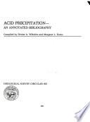 Acid precipitation Book