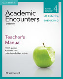 Academic Encounters Level 4 Teacher s Manual Listening and Speaking