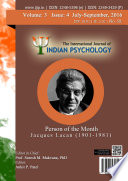 The International Journal Of Indian Psychology Volume 3 Issue 4 No 59