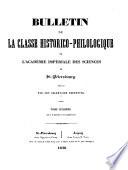 Bulletin historico-philologique