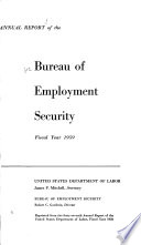 Annual Report of the Bureau of Employment Security Book