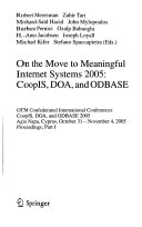 On the Move to Meaningful Internet Systems      CoopIS  DOA  and ODBASE