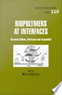 Biopolymers At Interfaces Second Edition Book PDF