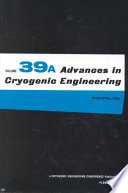 Advances in Cryogenic Engineering Book