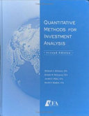 Quantitative Methods For Investment Analysis Book PDF