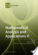 Mathematical Analysis and Applications II Book