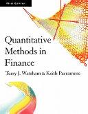 Quantitative Methods in Finance