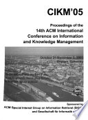 Proceedings of the ... International Conference on Information and Knowledge Management