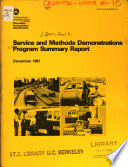 Service and Methods Demonstrations Program Summary Report