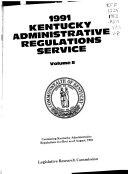 Kentucky Administrative Regulations Service Book