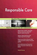 Responsible Care Standard Requirements Book