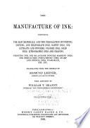 The Manufacture of Ink