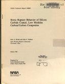 Stress Rupture Behavior of Silicon Carbide Coated  Low Modulus Carbon carbon Composites