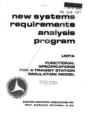 New systesm requirements analysis program