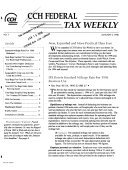 CCH Federal Tax Weekly
