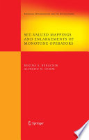 Set Valued Mappings And Enlargements Of Monotone Operators Book PDF