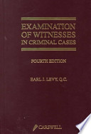 Examination of Witnesses in Criminal Cases
