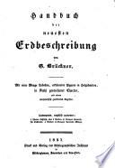 Handbuch der neuesten Erdbeschreibung