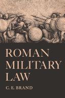 Roman Military Law Pdf/ePub eBook