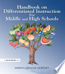 Handbook on Differentiated Instruction for Middle   High Schools Book