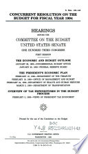 Concurrent Resolution on the Budget for Fiscal Year 1994