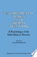 Environmental Design and Human Behavior Book