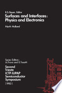 Surfaces and Interfaces  Physics and Electronics