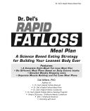 Dr. Del's Rapid Fatloss Meal Plan
