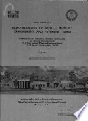 Microthesaurus of Vehicle Mobility, Environment, and Pavement Terms