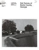 Soil Survey of Burke County  Georgia