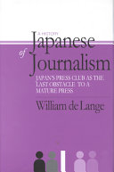 A History of Japanese Journalism