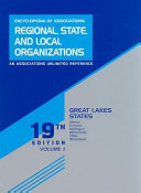 Pdf Encyclopedia of Associations Regional, State, and Local Organizations, Great Lakes States