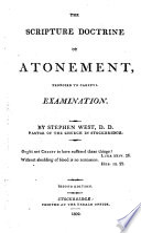 Scripture Doctrine of Atonement Book