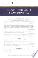 New England Law Review: Volume 49, Number 3 - Spring 2015