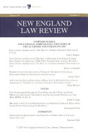 New England Law Review  Volume 49  Number 3   Spring 2015