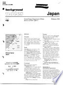 Background Notes, Japan