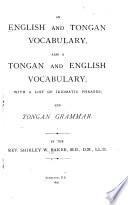 An English and Tongan Vocabulary