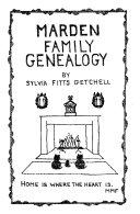 Marden Family Genealogy