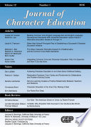 Journal of Character Education Issue Book