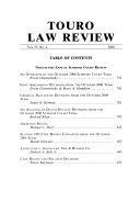 Touro Law Review