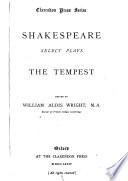 Select Plays  The tempest Book